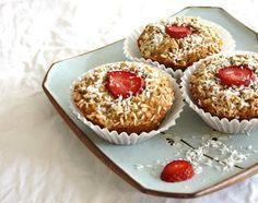 Strawberry Coconut Spelt Muffins