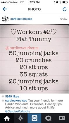 Workout for Flat Tumny