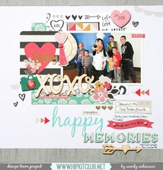 Hello!! TGIF  Designer @wantenucci has created this stunning LO with our #january2016 kits featuring @cratepaper @maggiehdesign @mymindseyeinc #hipkits #hipkitclub #scrapbook #scrapbooklayout #papercrafting #january2016