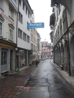 The town of St. Gallen, Switzerland...
