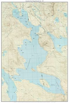 Best Maine Lakes Old Topo Maps Custom Reprints Images On - Maine lakes map