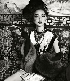 Miao Bin Si for Harper's Bazaar China October 2012 by Yin Chao.