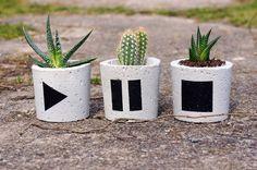 Zestaw 3szt - doniczki betonowe / z betonu - GrowRaw - Dekoracje