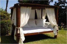 43 Adorable Outdoor Bedroom Design Ideas, See more ideas >> Outdoor Bedroom, Outdoor Daybed, Outdoor Living, Bedroom Decor, Outdoor Decor, Outdoor Spaces, Mirror Bedroom, Outdoor Lounge, Outdoor Seating