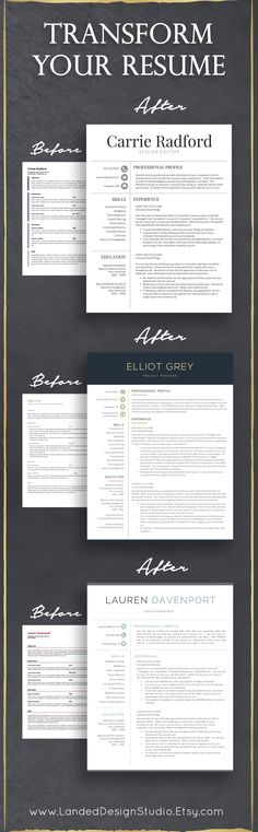 Completely transform your resume with just a few clicks of the mouse. Stand out…