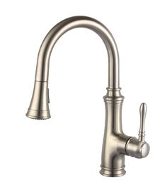 ALLORA USA SERIES | Model: A-726-BN Available: Brushed Nickel cUPC, NSF certified. ADA, CA AB 1953 lead free compliant. Matching Two Function Pull-out Spout Spr
