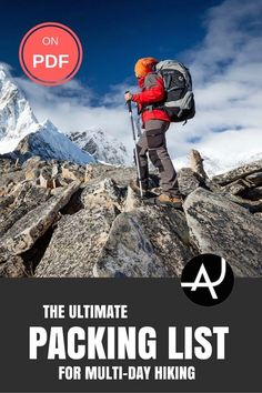 The Ultimate Multi-day Hiking Packing List – Best Hiking Backpacks – Packing Tips For Backpacking – What To Pack For Hiking – Hiking Gear For Women, Men and Kids via The Adventure Junkies  | Outdoor Activities. Hiking, Scuba Diving And More