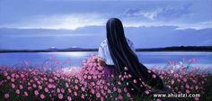 Atlangatepec , flores, cultura Mexicana, pintor mexicano, pintura al oleo, cosas de Mexico, Armando Ahuatzi