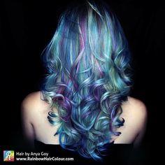 Green blue purple