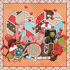 Single 130 - I heart u 9 template by Cindy Schneider  Love sweet love by Meghan Mullens