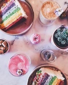 Colorful Food, Turkish Delight, Latte Art, Food Coloring, Glasgow, Coffee, Breakfast, Cake, Kaffee