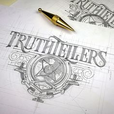 "Polubienia: 1,176, komentarze: 37 – ⅄HꓒꓯꓤꓨOꓒ⅄ꓕ :) ☕️✏️ (@tomasz_biernat) na Instagramie: ""#Truthtellers #logo #sketch #typism #handmadefont #design #handletter #thedailytype #typegang…"""