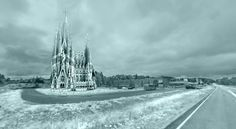 Dutch Students To Build Gaudí's Sagrada Familia From Ice,Montage. Image Courtesy of Eindhoven University of Technology