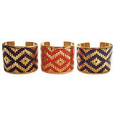 Woven Ikat Cuff Bracelet