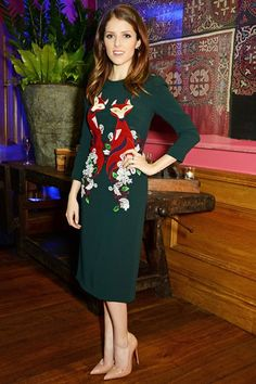 "Anna Kendrick in Dolce & Gabbana attends a screening of ""Into The Woods"" in London. #bestdressed"