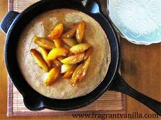 Riesen Vegan Ofen Pfannkuchen mit Sauteed Pluots