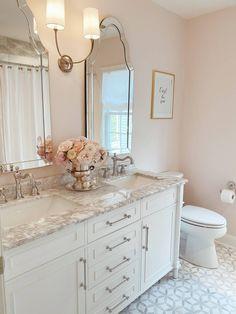 Girl Bathroom Decor, Girl Bathrooms, Bathroom Kids, Vanity Bathroom, Remodel Bathroom, Master Bathroom, Bathroom Remodeling, Remodeling Ideas, Budget Bathroom