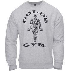Golds Gym Mens Fitted Sweatshirt Hellgrau