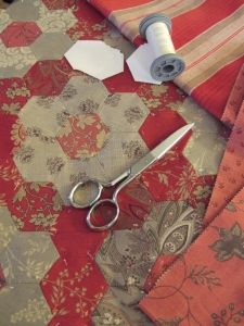 The Humble Hexagon. Tips for sewing hexagons.