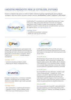 Brochure Smart City - Prodotti con upgrade di InfoGov