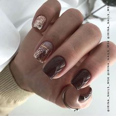 Girls, what is more beautiful manicure? - best ideas for dis . Acrylic Nails, Gel Nails, Manicure, Overlay Nails, Long Square Nails, Palm Tree Nails, Fall Nail Art Designs, Short Nails Art, Silver Nails