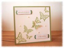 Hochzeitskarte im Schmetterlingsrausch