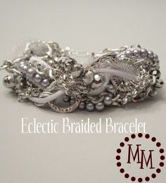 braided bracelet - out of scraps....darling!!
