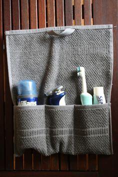 Serviette détournée Diy Sac, Crafty Craft, Knit Crochet, Stitching, Projects To Try, Organization, Sewing, Knitting, Create