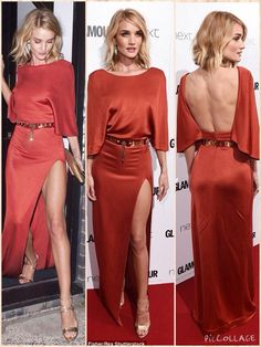 Rosie Huntington-Whiteley looked seriously foxy in this Cushnie et Ochs gown - and just look at those Jennifer Meyer earrings Chic Outfits, Dress Outfits, Fashion Dresses, Chic Dress, Classy Dress, Top Fashion Magazines, Gown Suit, Jennifer Meyer, Fashion Night