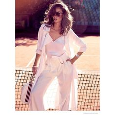 Nicole Trunfio Models Sporty Looks for Cosmopolitan Australia ❤ liked on Polyvore featuring sports