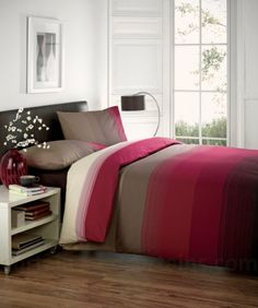 CONTEMPORARY STRIPED DUVET COVER Poly Cotton Bedding Quilt Cover Bed Set Red ( chocolate brown claret maroon ) Double Duvet Cover Just Contempo,http://www.amazon.co.uk/dp/B00C220ZDQ/ref=cm_sw_r_pi_dp_eN-Btb0XNDC2QBNH