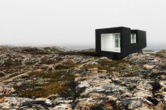 Magnificent, raw landscapes of Fogo Island (Newfoundland, Canada) are a perfect location for photoshoots and art projects. The Shorefast Fou. Fogo Island Newfoundland, Oscar Niemeyer, Island Tour, Light In The Dark, Architecture Design, Art Projects, Exterior, Tours, Photoshoot