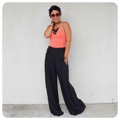 Super Bad DIY Pants + Pattern Review Burda 7195 @ mimigstyle.com #burdastyle #DIY
