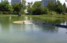 Westpol architects created this wonderfully picturesque spot in Vöcklabruck, Austria