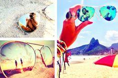 Ideias de fotos na praia criativas