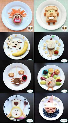 Comment donner envie aux enfants de manger des légumes ? | Plus de Mamans Cute Snacks, Yummy Healthy Snacks, Cute Food, Good Food, Kids Food Crafts, Food Art For Kids, Cooking With Kids, Funny Breakfast, Breakfast For Kids