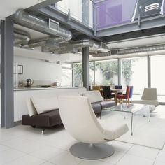White Modern Living Room - Living Room Design Ideas - Lonny