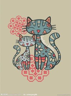 gatos Más: Tap the link Now - Luxury Cat Gear - Up to off and Free Worldwide Shipping! I Love Cats, Crazy Cats, Cute Cats, Art Fantaisiste, Cat Quilt, Cat Colors, Cat Drawing, Whimsical Art, Cat Art