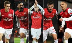 This is a great pic of the young British talent on show this season. They are all really exciting to watch. It's amazing to think that players like Wilshere and Ramsey have already both made well over 100 appearances for the club and they are both so young. Also notice that Theo Walcott is not among the group and that demonstrates developing depth of the home based talent at the club. In past seasons Arsenal have fielded teams with no British players - but there was a plan.