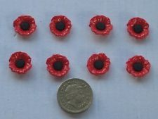 Novelty 16 mm poppy buttons ~ nice for a red/black cardi