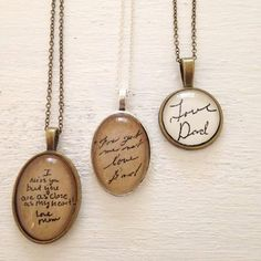 From a Loved One. Handwriting Memory Necklace. by hendersweet