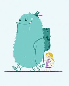 Monster illustration by susangir