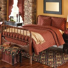 Primitive bedding sets make your bedroom warm and cozy, primitive bedroom decor - nwi youth football Primitive Homes, Primitive Kitchen, Country Primitive, Primitive Decor, Primitive Antiques, Primitive Furniture, Country Furniture, Bedroom Walls, Bedroom Decor