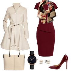 Winter work capsule wardrobe 37 pieces 100 outfits - Women work outfits