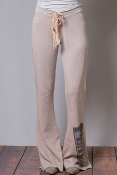 Brokedown Peace Print Fleece Pant
