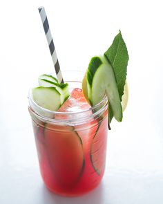 Cucumber & Watermelon Vodka Cooler with Lime Syrup | Sweet Paul Magazine
