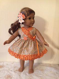 American Girl Orange Dream Floral Dress
