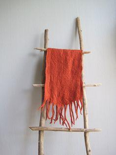 Felted Scarf Nuno Felt Scarf  Felt Shawl  Felted by woolpleasure