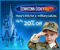 Disney World Discount for Military families:  Details about the Downtown Disney Resort Area Hotels Military Discounts