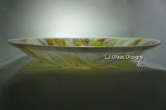 Fused Glass Platter by Linda Indalecio @ LJ Glass Designs